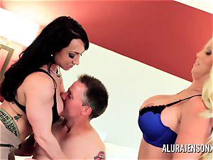 cougar detective Alura Jenson 3some intercourse