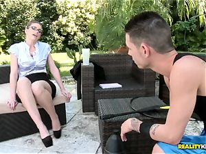 Brooklyn chase gives her gardener some penalty