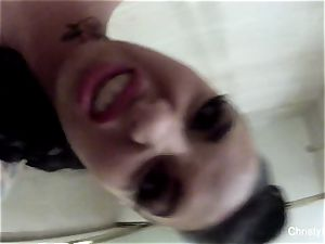 huge-boobed star Christy Mack takes a bath