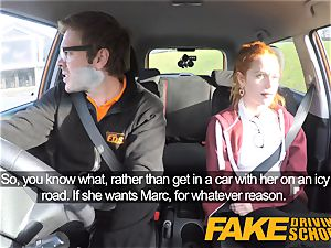 faux Driving college super-cute ginger-haired Ella Hughes nails
