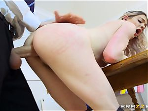 super-sexy schoolgirl Carly Rae gets pulverized by a enormous dicked tutor