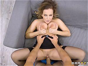 tutor Natasha nice blows the giant manhood of strung up Sean