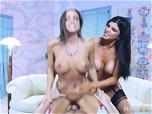 Abigail Mac and Romi Rain 3some