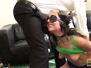 blindfolded victim Liz Rainbow gasped and romped by Pascal