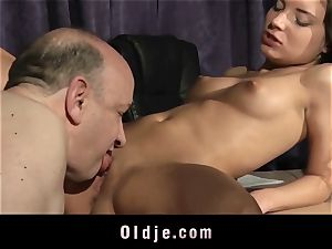 cock-squeezing cool nubile vulva humped By older step-father