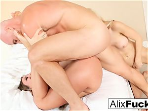 scorching 3-way with Alix, Kissa, and Johnny