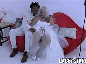 LACEYSTARR - grandmother bride fed with cum after pounding