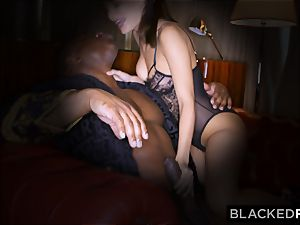 BLACKEDRAW wife enjoys his huge dark-hued trouser snake a little too much