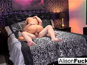 chesty Alison gets plowed rock hard