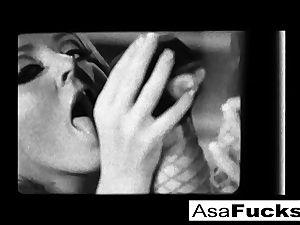 Asa, London, and Sophie Dee penetrate