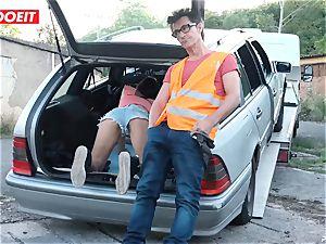 LETSDOEIT - teenager plumbs elderly guy For Free Car Repair