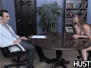 big-chested Reena Sky earns facial cumshot after godly beef whistle riding