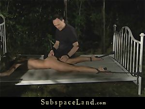 anal invasion penalty for a tied slavegirl