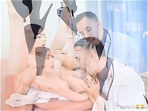 Marley Brinx gets her cunt deeply studied at the doctors
