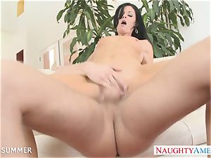black-haired India Summer gets twat screwed