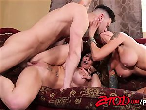 cougar 3 way what a pummeling soiree