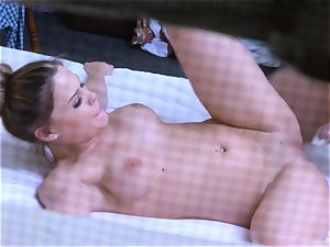 Brianna brown caught on spy web cam as she pummels