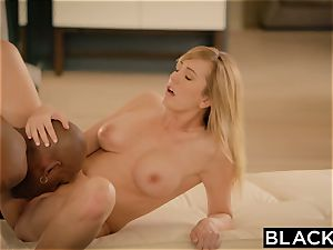 BLACKED Brett Rossi panicked From Her Ex ginormous dark-hued chief Protects Her