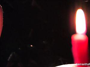 kinky candle joy with Samantha Saint