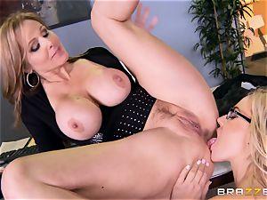manager Julia ann pounds her wonderful secretary Olivia Austin
