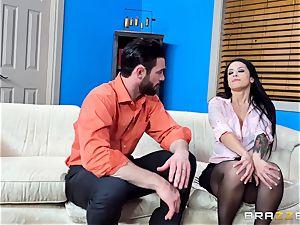 super-naughty Katrina Jade juggling on a ample manhood
