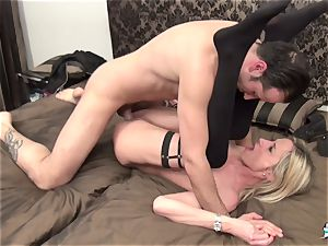 LaCochonne - blonde French mature amateur has harsh lovemaking