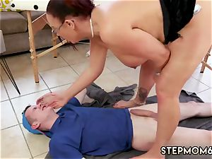 mother instructs crony ally and playfellow s daughter fuck-fest big orb Step-Mom Gets a massage