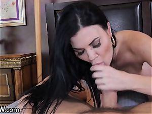 enormous parent boner cum shot ample orb English milf Jasmine Jae