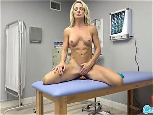CamSoda - Nurse cougar rails dildo