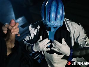 Space porn parody with super-fucking-hot alien Rachel Starr