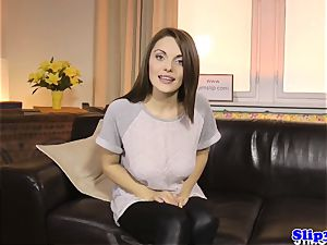 fantastic eurobabe blows elderly male at casting
