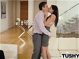 TUSHY Ariana Marie very first buttfuck