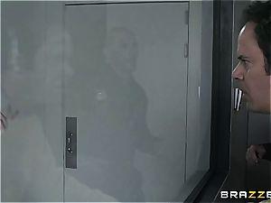 tough oral interrogation with Nicole Aniston