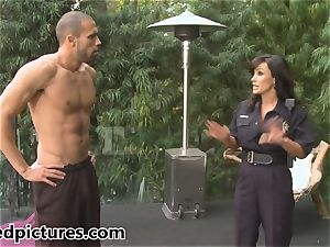 buxom cop Lisa Ann gives out her prick punishment