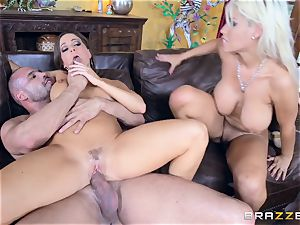man meat luving girls Bridgette B and Abigail Mac
