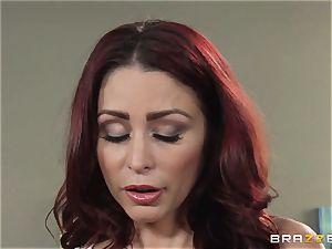 wife Lezley Zen gets vengeance on super-sexy masseuse Monique Alexander