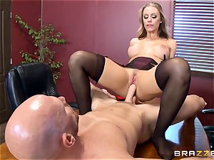 scorching boss Nicole Aniston taking a thick beef whistle in the office