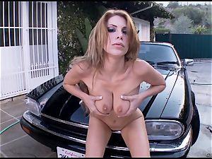 Randy Alexa Nicole tantalizes her dripping pantie pot