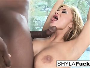 Prince supplies a dark-hued cock For super-sexy Shyla