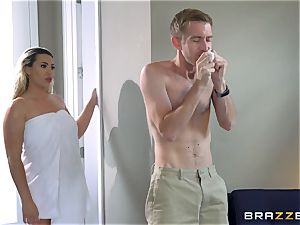 Smoking super hot ash-blonde with a yam-sized booty railing on top of Danny D