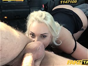 fake taxi blonde cougar Victoria Summers pounded in a cab