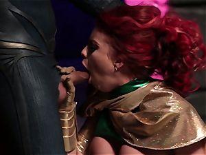 Britney Amber bj's off a nasty superhero
