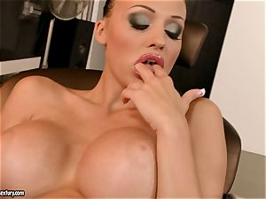 passionate Aletta Ocean couldn't wait to work on her eager slits for one steamy ejaculation