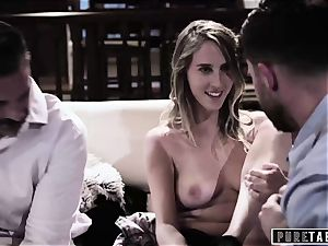 unspoiled TABOO stunner Tricked Into vengeance three way with Strangers