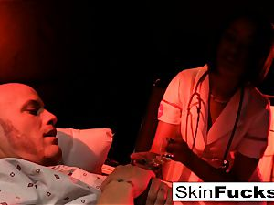 Nurse flesh gets anally smashed by her patient
