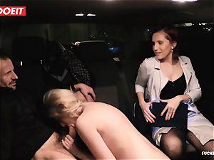 LETSDOEIT - secretary Hooks chief chick With sex In cab