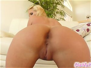 Phoenix's honeypot gets mouth-watering from her monster faux-cock