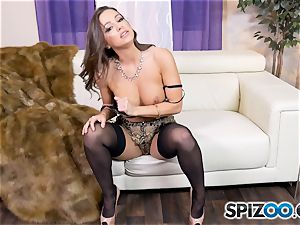 Solo getting off with nasty Abigail Mac